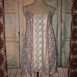 SHOW ME YOUR MUMU~Striped Geo Floral Bella Dress
